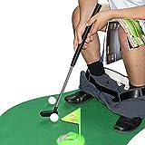 GOODS+GADGETS Toiletten Golf Set Golfset für das Badezimmer - Golfsport auf dem WC und Klo