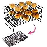 Gurxi Auskühlgitter Antihaftbeschichtet Kuchengitter für Gleichmäßiges und Schnelles Auskühlen...