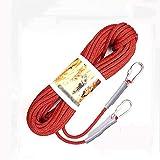 Klettern Seil Rock Seil im Freien 10M Multifunktionsnylonseil 10.5mm Außenkletterhilfsseil Safety...