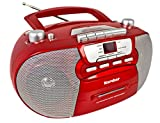 Karcher RR 5040 Oberon tragbares CD-Radio (AM/FM-Radio, CD, Kassette, AUX-In, Netz/Batteriebetrieb)...