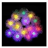 YYYY Solarleuchte String, 6.5M 30LED-Pelz-Kugel-Licht-Schnur-Garten-Dekoration Weihnachten im Freien...