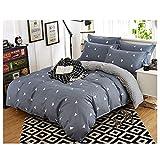 ZHILI Vierteilige Bettwäsche Blätter Decke Kissenbezug Doppelbett Schlafzimmer Doppelbett...