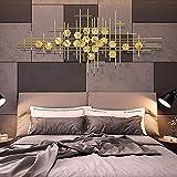 WXDDX Wanddeko Metall, Dreidimensionale Schmiedeeiserne Wanddekoration, Wanddeko Wandverzierung Für...