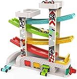 TOP BRIGHT Spielzeugauto-Set für 1-, 2-Jährige - Kleinkind-Autostrecke Auto-Rennbahn mit 4...