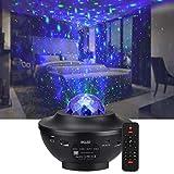 LED Sternenprojektor Sternenhimmel Lampe, Rotierende Wasserwellen Projektionslampe, BSLED kinder...