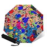 Colorful Bright Ink Splat Reiseschirme für Damen, Sonnenschirme für Damen, Kompaktschirme für...