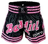 Islero Damen/Mädchen Muay Thai Shorts für Kampfsport, Kick Boxing, Kampfausrüstung für Frauen, M