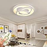 Modern Deckenleuchte Weiß 72W LED Wohnzimmer Design Lampen Decke Dimmbar Hängeleuchten...