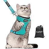 Katzengeschirr CATISM Katzenleine mit Leine Geschirr mit Reflektierenden Streifen Katzen...