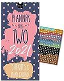 IN ENGLISH (UK): Paarplaner 2021– MUSTER   3 Spalten   Wandkalender: 16x32,5cm   Partnerkalender...