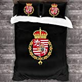 LZMM 3-teiliges Set Czech Republic Coat of Arms Microfiber Bedding Soft All-Season Microfiber...