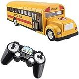 LJH Spielzeug RC Autos, RC Schulbus Fernsteuerungsauto- Fahrzeuge 6 Ch 2.4G Opening Doors...