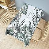 DUJX Einfache Tischdecke Antifouling Stoff Waschbar Baumwolle Leinen Moderne Küchentischdekoration...
