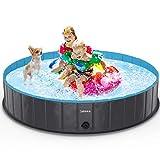 lunaoo Hundepool fur Große Hunde - Faltbare Schwimmbecken Hundebadewanne Hund Planschbecken für...