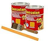 Consolan Wetterschutzfarbe deckend / 2x 0,75L gelb 203 / Holzschutzfarbe Holzfarbe bis zu 10 Jahre...