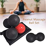 cosyhouse Erdnuss Massage Ball Set Lacrosse Ball Deep Tissue Perfekt für Trigger Point Therapie...