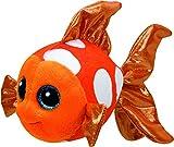 Carletto Ty 37176 Sami Orange Fish Plüsch, Black/White