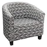NIBESSER Sesselbezug Stretch Sesselschoner Jacquard Sesselhusse Sesselüberwurf mit schönem Muster...