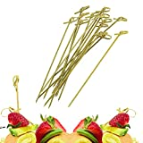 Cocktailspieße aus Bambus, ideal für Pferde, Vorspeisen, Cocktail-Partys oder Grill-Snacks,...