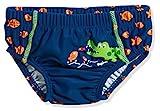 Playshoes Baby-Jungen UV-Schutz Windelhose Krokodil Schwimmwindel, Blau (Marine 11), 74...