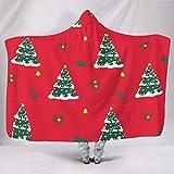 Leben Weihnachten Baum rot Schnee Decke mit Kapuze Umhang Abstrakt Bunt Umhang Für Frauen Mann...