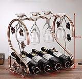 KDMB Europäisches Weinregal - 4 Flaschen und 6 / Weinglas-Trockenregale für Partys/Heimgebrauch -...