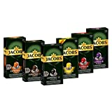 Jacobs Kaffeekapseln, Probierbox Nespresso* kompatible Kapseln mit 6 verschiedenen Sorten, 6 x 10...