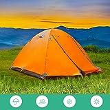 YANKK 2 Personen Camping Zelt, Doppelschicht Wasserdicht Kuppelzelt Vier Seiten Atmungsaktives Mesh...