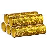 Gold Metallic Luftschlangen im 5er Sparpack - 5 Rollen mit je 18 holografisch-glitzernden...