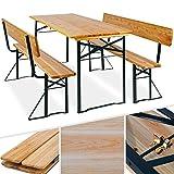 Kesser Bierzeltgarnitur mit lehne & breiter Tisch 170x70cm | 3 teilig Gartenmbel-Set | Klappbar 2X...
