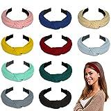 Winpok Stirnband Damen,10 Stück Kopfband Stirnbänder Eelastische Haarband Turban Knoten Hairband...