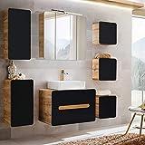 Lomadox Badezimmermöbel Set mit Waschtischunterschrank mit Keramik-Waschbecken &...