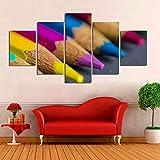 YDGG Wandkunst Bilder Poster Leinwand Malerei Studio Hintergrund 5 Stücke Buntstifte...