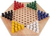 Hölzernes Schachspiel,60 Stück Wood Chinese Checkers, Farbprüfspiel für Kinder im Innen- und...