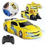 Baztoy Ferngesteuertes Auto Kinder Spielzeug Transform Roboter RC Car Junge Mdchen Doppelmodi 360...