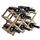 Weinregal Weinregal aus Holz mit 10 Flaschen, freistehend für Tischbar oder Moderne minimalistische...