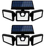 SEFON Solarlampen für außen mit Bewegungsmelder 70 LED Solarleuchten für außen IP65 LED Strahler...