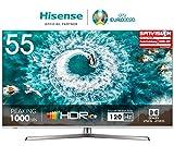 Hisense H55U8B 138 cm (55 Zoll) Fernseher (4K Ultra HD, HDR 1000, DolbyVision, Triple Tuner,...