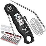 Hevanto Fleischthermometer Digital Grillthermometer, Instant Read Bratenthermometer mit 2...