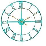 About Time Gartenuhr aus Metall in Antik-Optik, 46cm