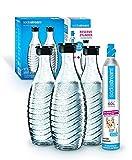 Sodastream Promopack Zylinder mit Glaskaraffe (1 x CO2-Zylinder fr 60L und 3 x 0,6L Glaskaraffe,...