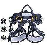 ZWWZ Half Body Klettergurt Einstellbare Fallschutzausrüstung for Berg Feuer Rescuing Klettern...