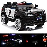 Polizei Kinderauto Polizeiauto mit Funkgerät Sirene und Martinshorn Kinderfahrzeug Kinder...