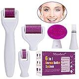 Dermaroller, Dermaroller Set, Dermaroller Gesicht, 6 in 1 Micronadeln Derma Roller fr Gesichtspflege...