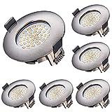 LED Einbaustrahler, Azhien 5W LED Deckenstrahler Warmweiß 2700K 400LM 230V Offenes Lochgröße 68mm...
