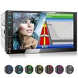 XOMAX XM-2VN751 Autoradio mit Mirrorlink, GPS Navigation, Navi Software, Bluetooth...