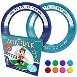 Activ Life Best Kids Wurfringe, Frisbee [Navy/Blaugrün] 2er-Pack - Spielzeug für Enkel & Enkelin,...