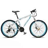 JHKGY Mountainbike - Doppelscheibenbremse,26-Zoll-Mountainbike Für Erwachsene,Bold Suspension Frame...