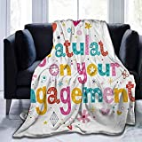 YYTY Cobija Soft Blanket Yankee Candle Engagement Party,Festive Congratulations Theme Hearts Spots...