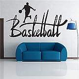 Kreative Basketball Sportler Wandaufkleber Laufen Kontinuierlich Zu Den Korb Wandtattoos Big Nice...